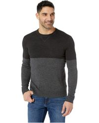 Smartwool - Sparwood Color Block Crew Sweater (charcoal Heather) Men's Sweater - Lyst