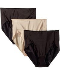 Miraclesuit - Tc Intimates By Miraclesuit Microfiber Hi-cut 3-pack (black/black/nude) Women's Underwear - Lyst