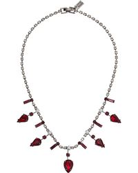 Steve Madden - Rhinestone Cluster Necklace (red/gunmetal-tone) Necklace - Lyst