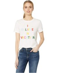 Ban.do - I Believe In Vacation Classic Tee (ivory) Women's T Shirt - Lyst