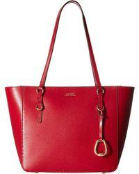 Lauren by Ralph Lauren - Bennington Shopper Medium (red) Handbags - Lyst 3a2826d5cf369