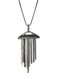 Alexis Bittar - Fringed Pendant Necklace (ruthenium/10k Gold) Necklace - Lyst
