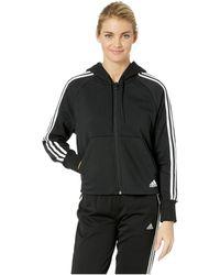 adidas - Must Have Full Zip Hoodie (black) Women s Sweatshirt - Lyst f9764a4cd3
