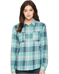 The North Face - Long Sleeve Castleton Shirt (sunbaked Red Trailhead Plaid) Women's Long Sleeve Button Up - Lyst