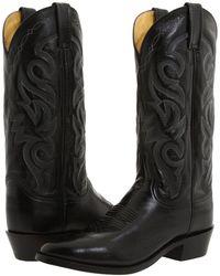 Dan Post - Milwaukee R Toe (black) Cowboy Boots - Lyst