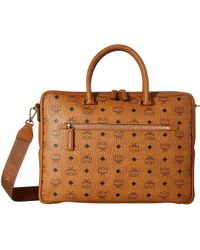 MCM - Ottomar Visetos Brief Case Medium (cognac) Handbags - Lyst