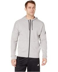 b131d095ca adidas - Id Stadium Full Zip Jacket (medium Grey Heather Solid Grey raw  White