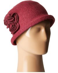 San Diego Hat Company - Cth8088 Soft Knit Cloche With Side Flower - Lyst