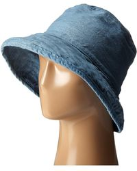 Hat Attack - Washed Cotton Crusher (chambray) Caps - Lyst