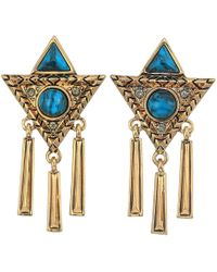 House of Harlow 1960 - Durango Triangle Statement Earrings - Lyst