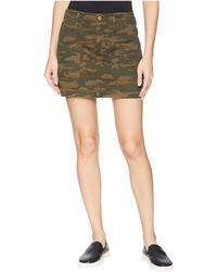 Sanctuary - Skirt With Release Hem (mother Nature Camo) Women's Skirt - Lyst