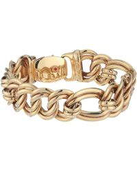 Roberto Coin - 18k Flat Curb Link Bracelet (rose) Bracelet - Lyst