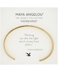Dogeared - Maya Angelou: Nothing Can Dim The Light Cuff Bracelet - Lyst