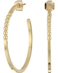 French Connection - Large Ball C Hoop Earrings - Lyst