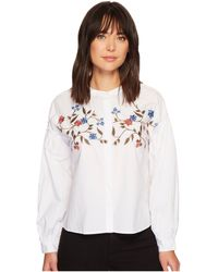 Two By Vince Camuto - Long Sleeve Embroidered Bubble Sleeve Button Down Shirt - Lyst