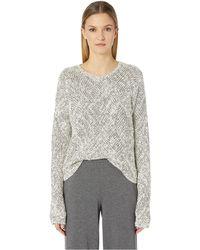 Eileen Fisher - Bateau Neck Sweater (soft White/black) Women's Sweater - Lyst