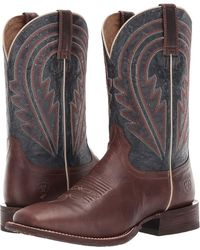 b3b94fcf2 Ariat - Circuit Herd Boss (sweet Molasses deep Azul) Cowboy Boots - Lyst