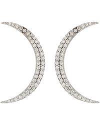 Shashi - Crescent Earrings (gold) Earring - Lyst