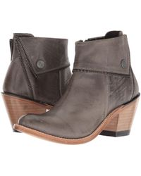 Old West Boots - Zippered Ankle Boot (grey) Cowboy Boots - Lyst