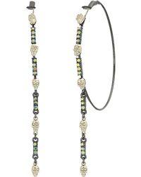 Betsey Johnson - Skull Stone Large Hoop Earrings (crystal) Earring - Lyst