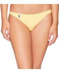 1c5ea151b9 Polo Ralph Lauren - Modern Solid Taylor Hipster Bottoms (pool) Women s  Swimwear - Lyst