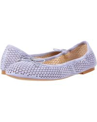 Sam Edelman - 'felicia' Perforated Suede Ballet Flats - Lyst