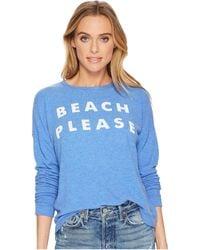 The Original Retro Brand - Beach Please Super Soft Haacci Pullover (royal Blue) Women's T Shirt - Lyst