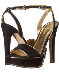 Guess - Empresy (gold Fabric) High Heels - Lyst