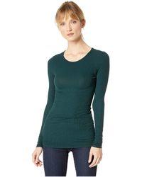 Three Dots - Long Sleeve Crew Neck (mistletoe) Women's Clothing - Lyst