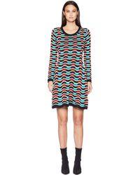 M Missoni - Checker Ripple Long Sleeve Dress (ivory) Women's Dress - Lyst