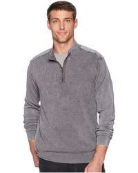 Mod-o-doc - T-street 1/4 Zip Pullover Cotton Sweater (irongate) Men's Sweater - Lyst
