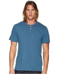 Joe's Jeans - Wintz Short Sleeve Slub Henley (vintage Blue) Men's Clothing - Lyst