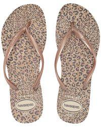 3df13bc91dc66 Havaianas - Slim Animals Flip Flops (white coral New) Women s Sandals - Lyst
