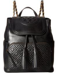Tory Burch - Fleming Backpack (black) Backpack Bags - Lyst