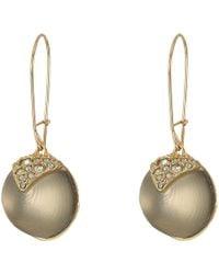 Alexis Bittar - Crystal Encrusted Origami Inlay Dangling Sphere Kidney Wire Earrings (grey) Earring - Lyst