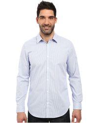 Calvin Klein - Long Sleeve Infinite Cool Button Down Mini Check Shirt (madras Purple) Men's Long Sleeve Button Up - Lyst