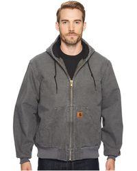 Carhartt - Qfl Sandstone Active Jacket (gravel) Men's Coat - Lyst