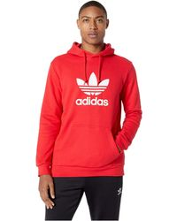 7895ecb50b89 adidas Originals - Trefoil Hoodie (medium Grey Heather) Men s Sweatshirt -  Lyst