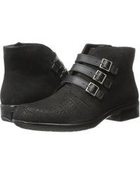 Naot - Calima (black Crackle Leather/black Velvet Nubuck/black Raven Leather) Women's Boots - Lyst