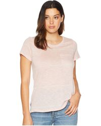 Two By Vince Camuto - Short Sleeve Romantic Thin Stripe One-pocket Tee (light Heather Grey) Women's T Shirt - Lyst