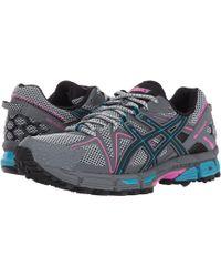Asics - Gel-kahana(r) 8 (mid Grey/carbon/limelight) Women's Running Shoes - Lyst