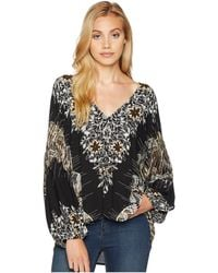 Free People - Birds Of A Feather Top (black) Women's Clothing - Lyst