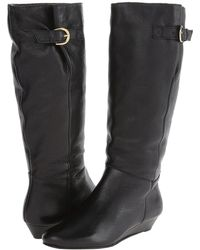 Steven by Steve Madden - Intyce (black Leather) Women's Pull-on Boots - Lyst