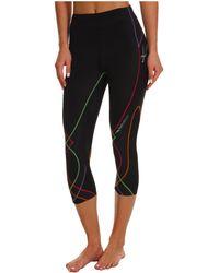 CW-X - Stabilyxtm 3/4 Tight (black/rainbow Stitch) Women's Workout - Lyst