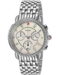 Michele - Sidney Diamond Dial Watch (silver) Watches - Lyst