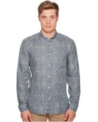 c567e26de8 Lyst - Billy Reid Crinkle Cotton Slim Fit Button-down Shirt in Blue ...