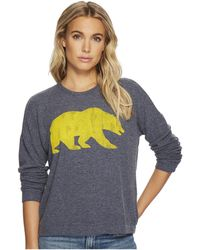 The Original Retro Brand - Cal Bear Super Soft Hacci Pullover (navy) Women's Clothing - Lyst