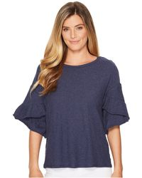 Two By Vince Camuto - Drop Shoulder Tiered Ruffle Sleeve Top - Lyst