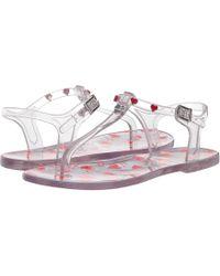 967a39d155e0 Love Moschino - Transparent Pvc Sandal With Heart Detailing (transparent) Women s  Sandals - Lyst