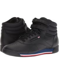 Reebok - Freestyle Hi (white/bunker Blue/primal Red/skull Grey) Women's Shoes - Lyst